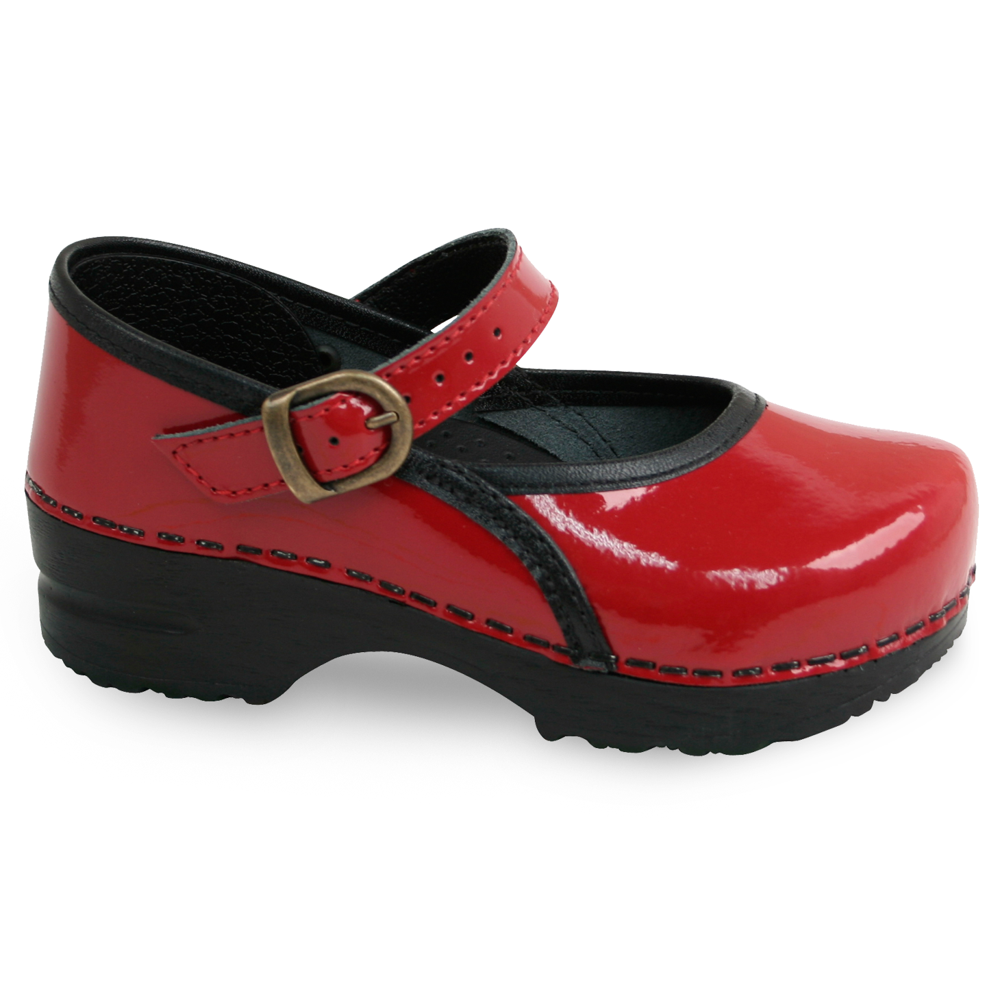 Sanita Marcelle Kids' in Red Closed Back Clog