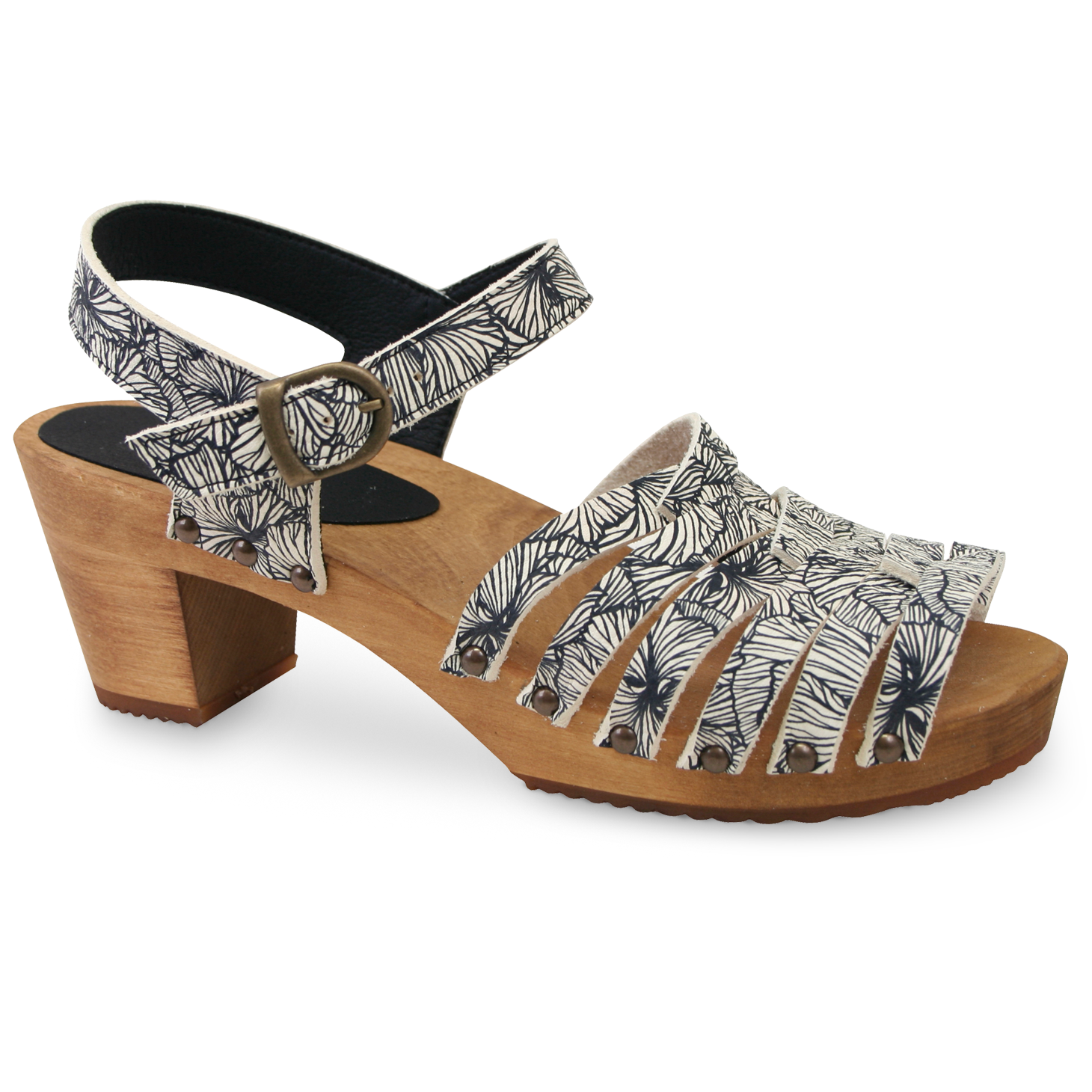 Sanita Mida Women's in Black/White Sandal
