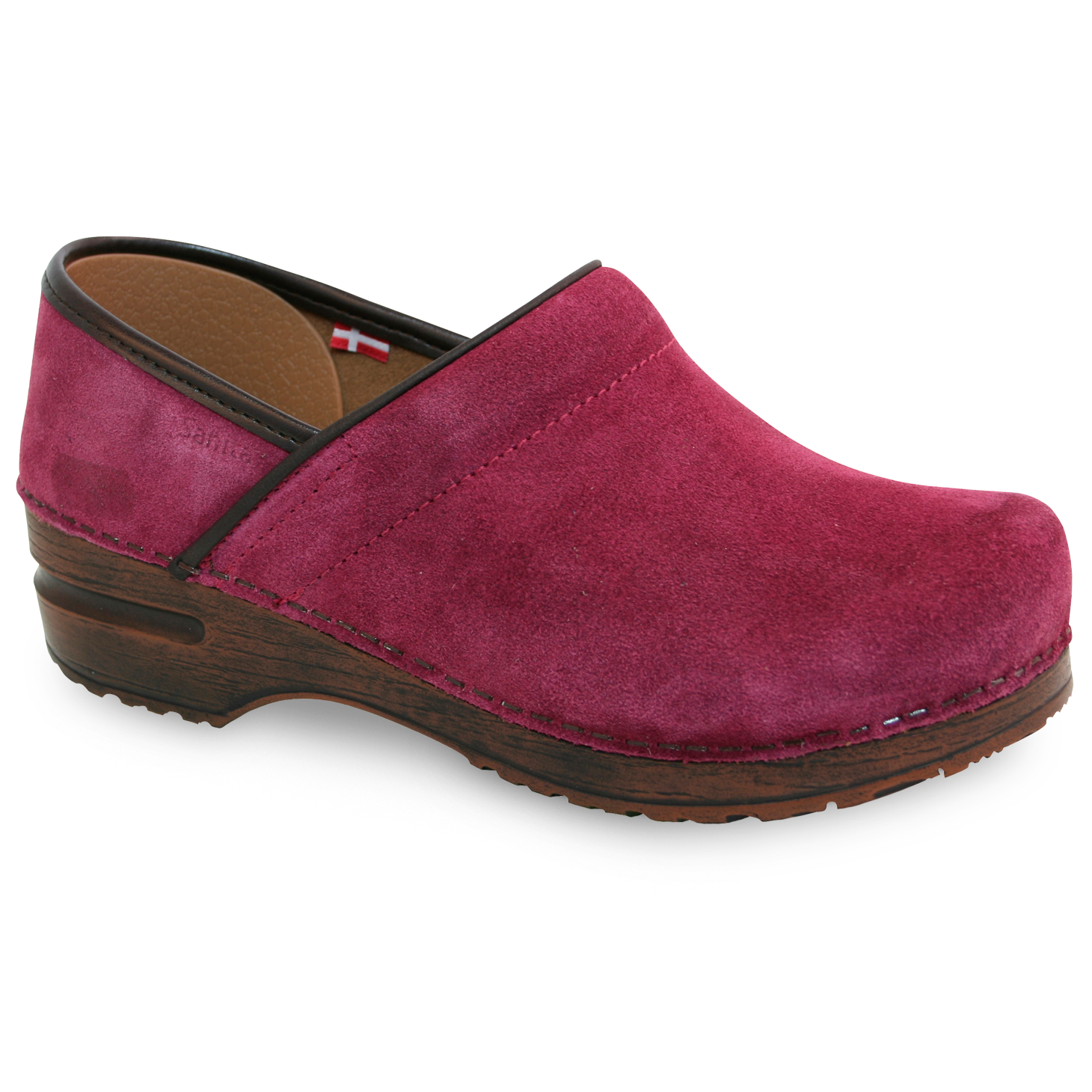 Sanita Nina Women's in Raspberry Closed Back Clog