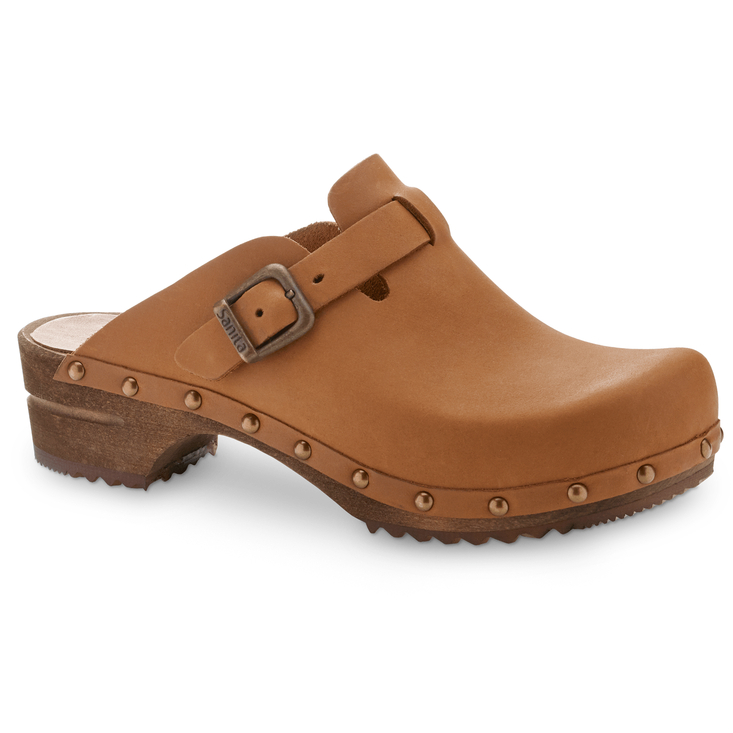 Sanita Kristel Women's Open Back Clog in Cognac