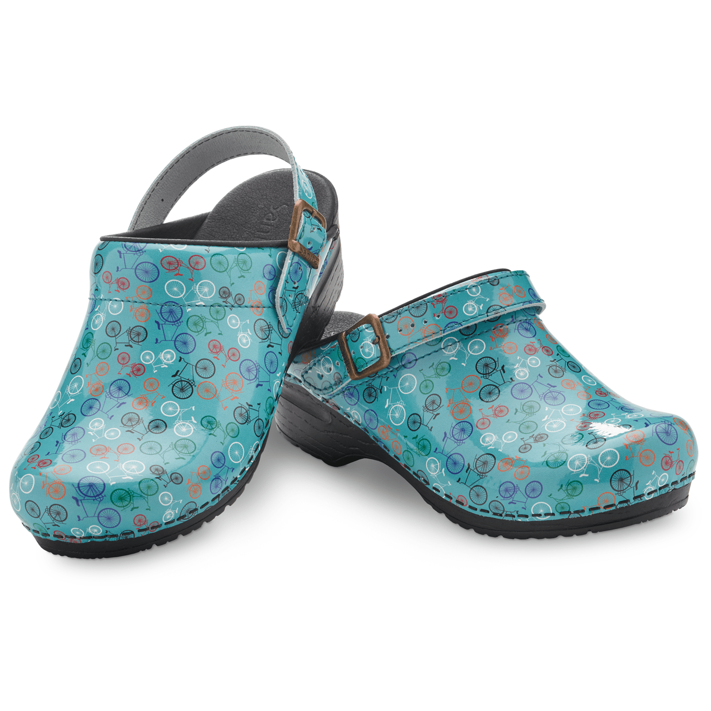 Sanita Estelle Women's in Teal Open Back Clog