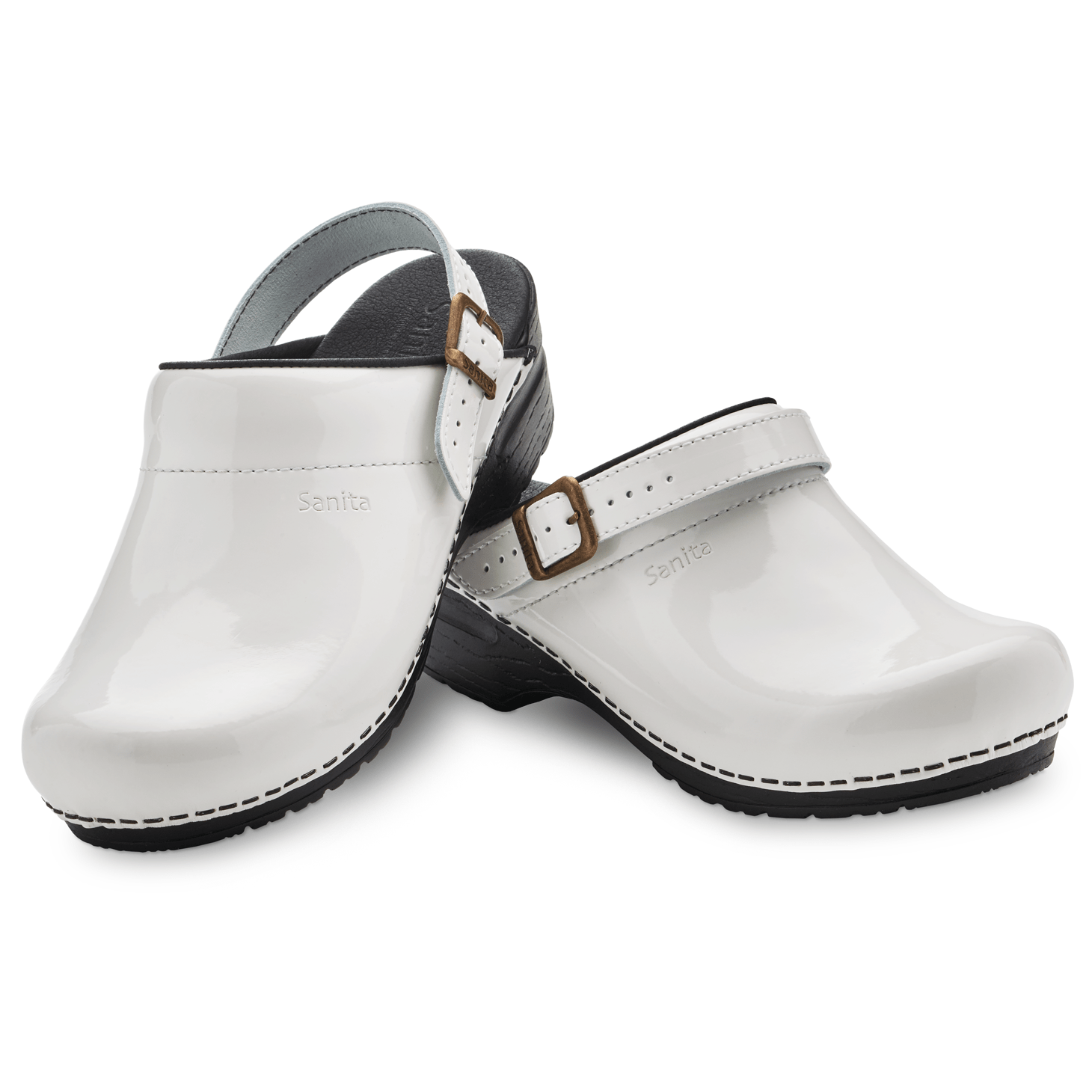 Sanita Estelle Women's in White Open Back Clog