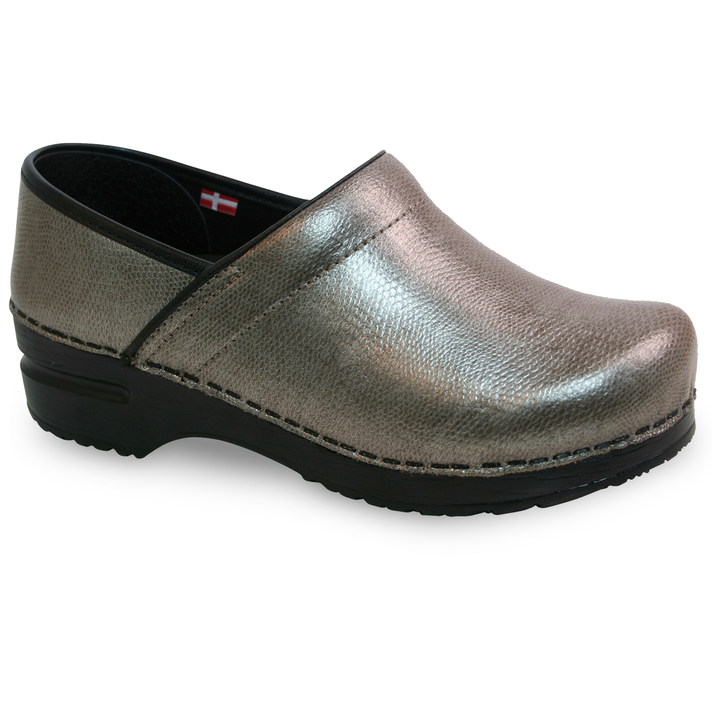 Sanita Pro. Pewter Women's in Pewter Closed Back Clog