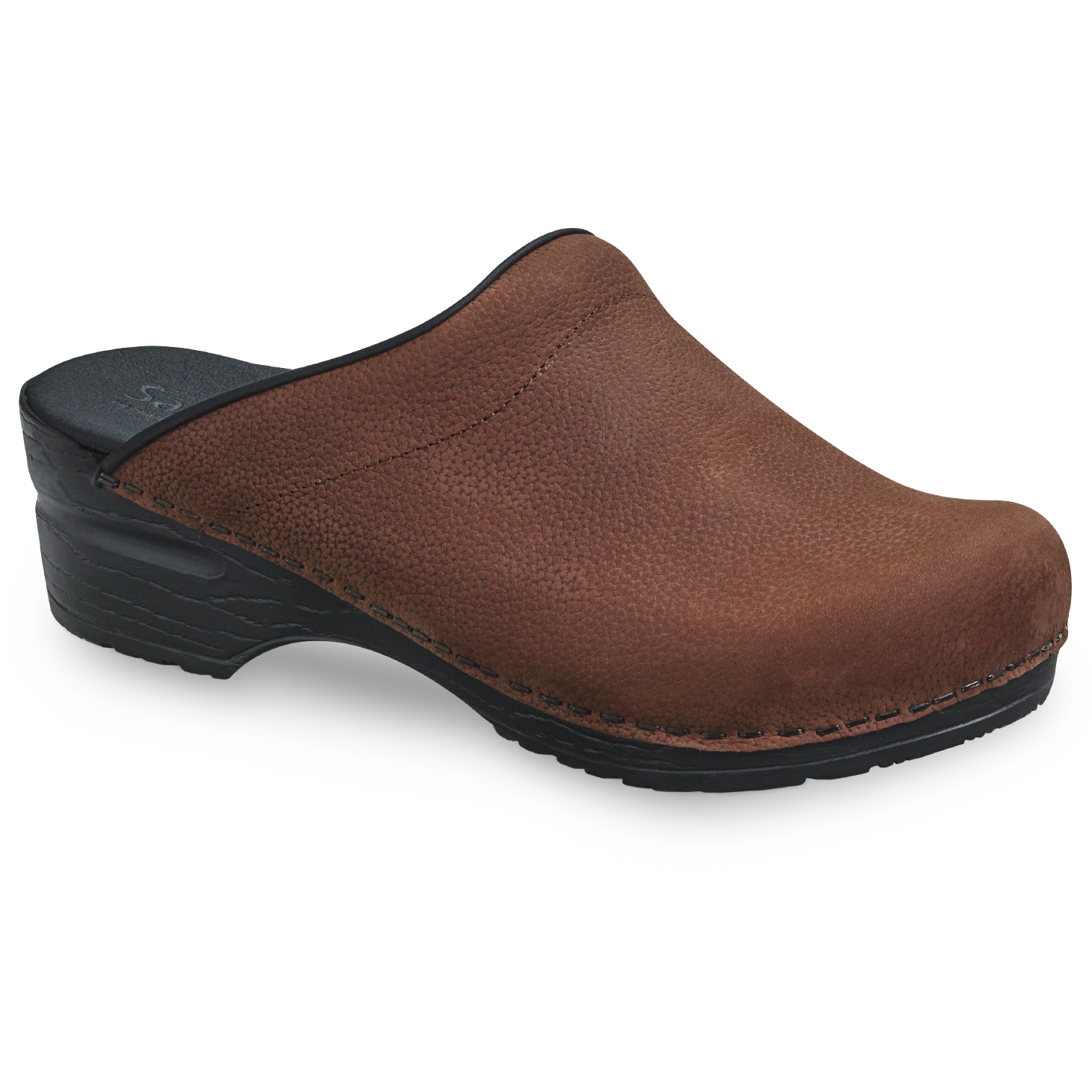 Sanita Sonja Textured Oil Women's in Antique Brown Open Back Clog