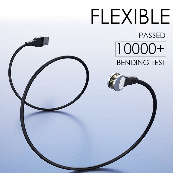 180° Magnetic Ring Charging Cable