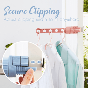 Clip-on Clothes Hanger