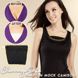 CleavageSafe Snap-On Mock Camisole