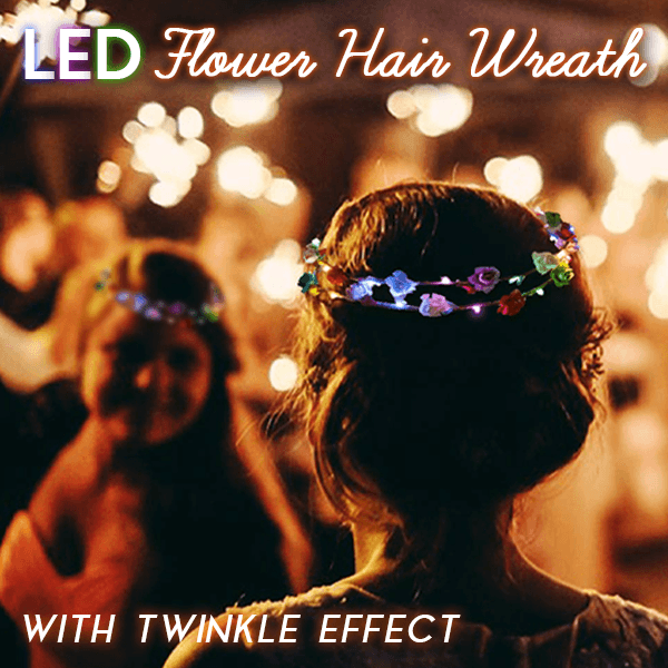 LED Flower Hair Wreath