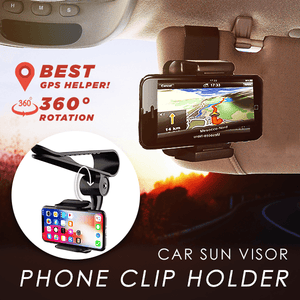 Car Sun Visor Phone Clip Holder