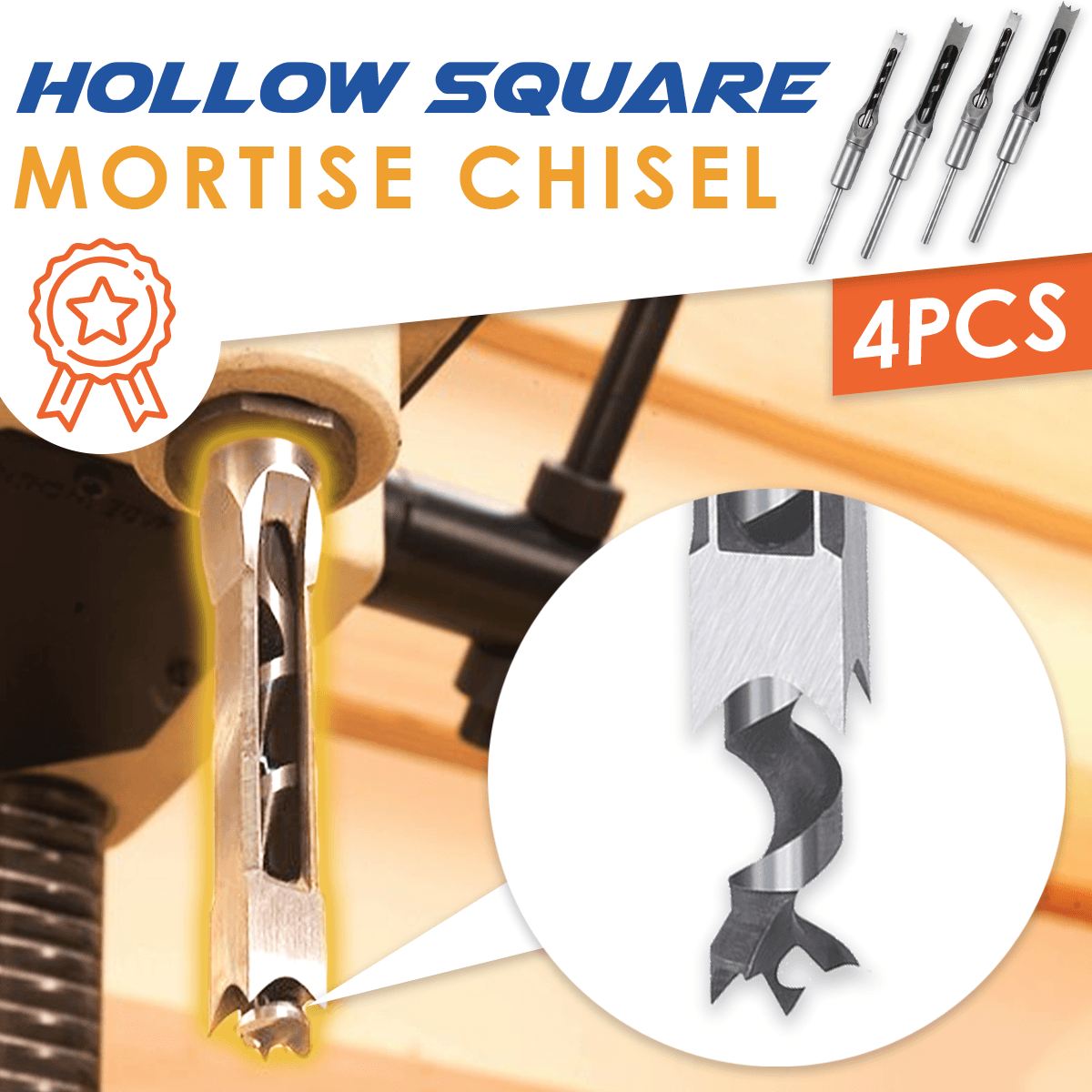 Silver Hollow Square Mortise Chisel