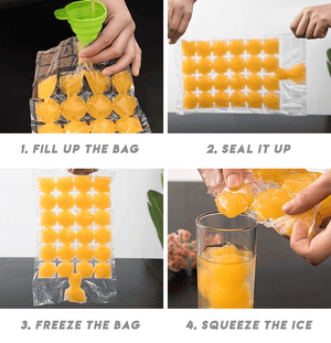 Self-Seal Ice Cube Mold (10 PCS)