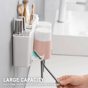 Wall Mounted Toothbrush Storage Set
