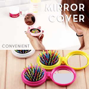2 In 1 Foldable Mirror Pocket Comb