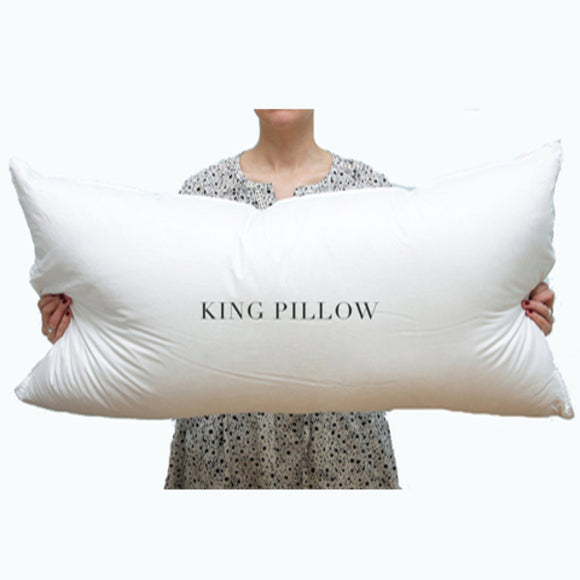 100% Cotton King Pillow 2200g with free cover