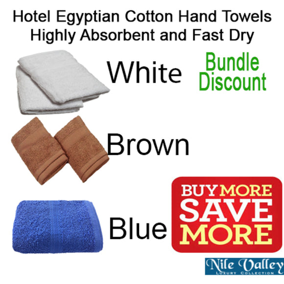 Egyptian Cotton Hand Towels - Hotel