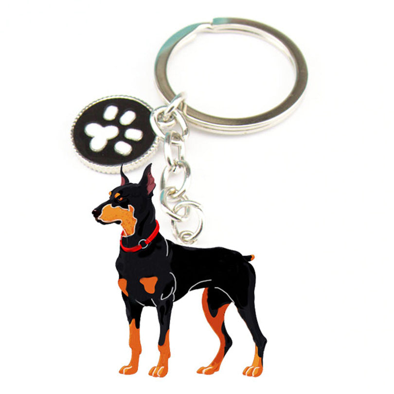 Novelty Dog Metal Charm Key Chains - 2 Dogs & A Cat