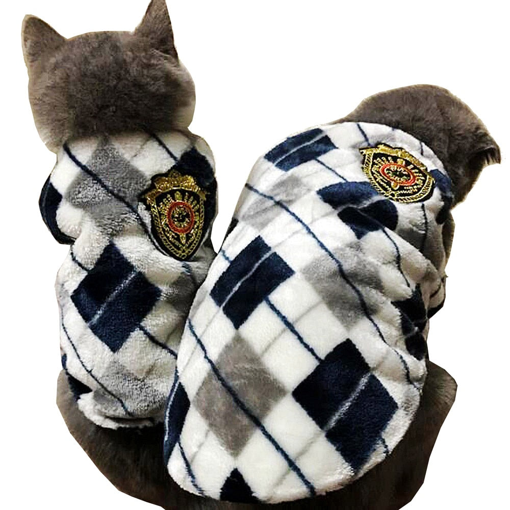 Winter Flannel Cat Vest - 2 Dogs & A Cat