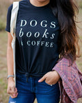 Letter Pattern Dog Lover T-Shirt - 2 Dogs & A Cat