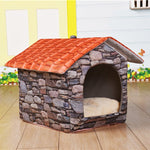 Soft Nest Removable Dog House - 2 Dogs & A Cat