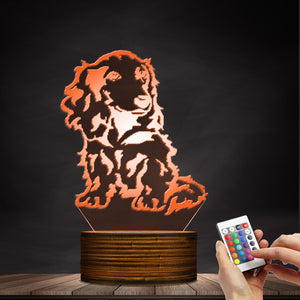 Puppy Dog LED Night Light - 2 Dogs & A Cat