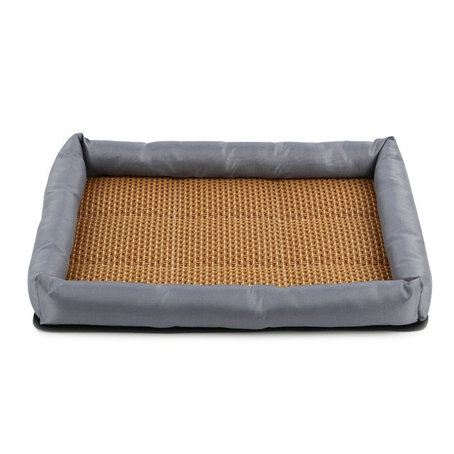 Cooling Sleeping Dogs Bamboo Bed - 2 Dogs & A Cat