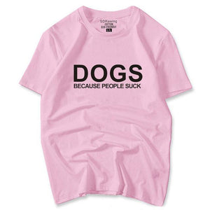 Love My Dog Print Graphic Cotton T-Shirt - 2 Dogs & A Cat