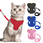 Crystal Mesh Cat Harness and Leash Set - 2 Dogs & A Cat