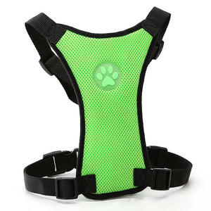 Mesh Adjustable Safety Vehicle Dog Harnesses - 2 Dogs & A Cat