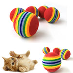 Chewing Rattle Scratch EVA Ball Cat Toys - 2 Dogs & A Cat