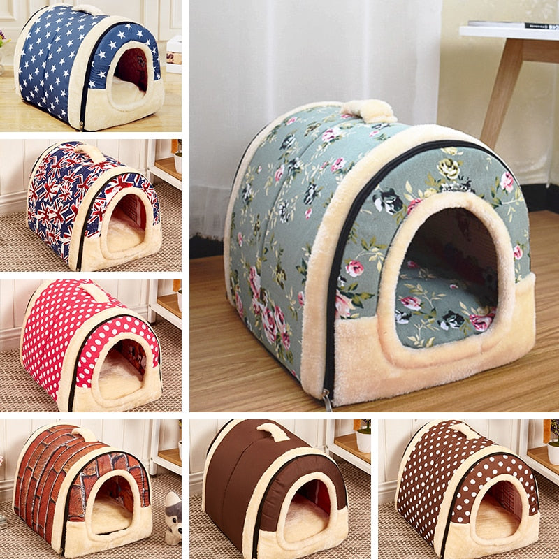 Eco-Friendly Oxford Cloth Dog House  Pet Basket Bags - 2 Dogs & A Cat