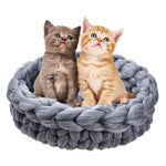 Handmade Cute Cat Basket Sleeping Bag - 2 Dogs & A Cat
