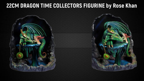 22CM DRAGON TIME COLLECTORS FIGURINE by Rose Khan