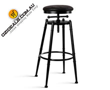 Load image into Gallery viewer, Industrial Vintage Bar Stool Retro Barstool Dining Kitchen Counter Black