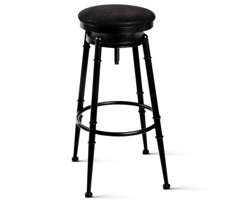 Industrial Vintage Bar Stool Retro Barstool Dining Kitchen Counter Black