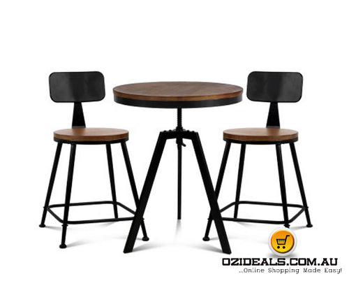 Bar Table and Stools set Vintage Retro
