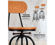 Load image into Gallery viewer, Vintage Bar Stool Industrial look