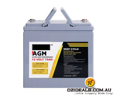 75Ah Deep Cycle Battery Power 12V