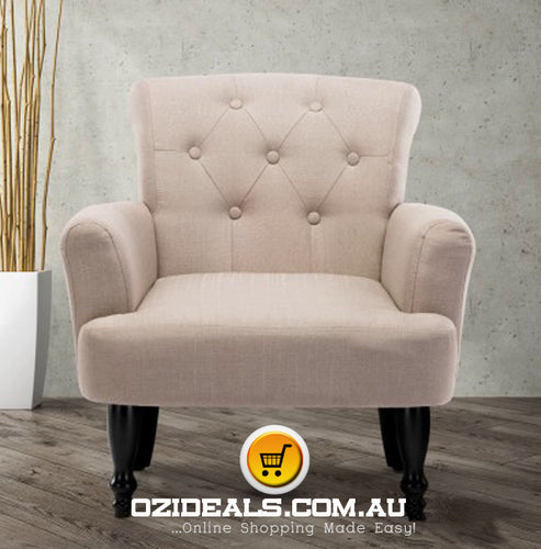 French Lorraine Chair Retro Wing - Taupe