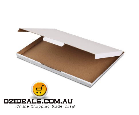200x Mailing Box Super Flat Rigid Envelope Mailer Diecut A4 310x220x16mm