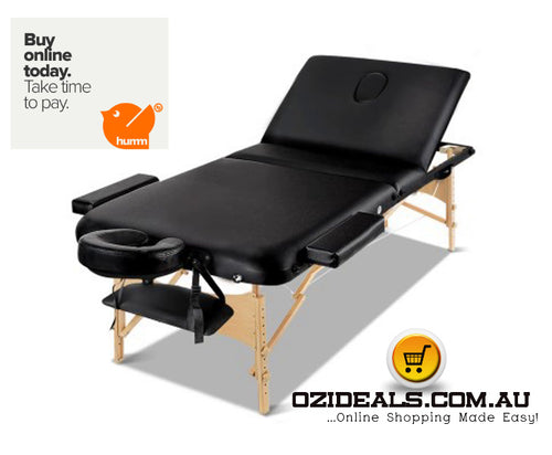 75cm Wide Portable Wooden Massage Table 3 Fold