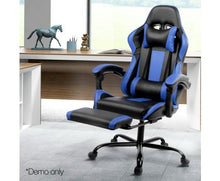 Load image into Gallery viewer, Reclining Office Desk Gaming Chair Red - Blue - Grey