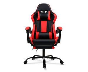 Reclining Office Desk Gaming Chair Red - Blue - Grey