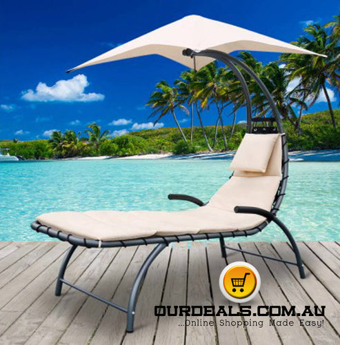 Outdoor Lounge Chair with Shade