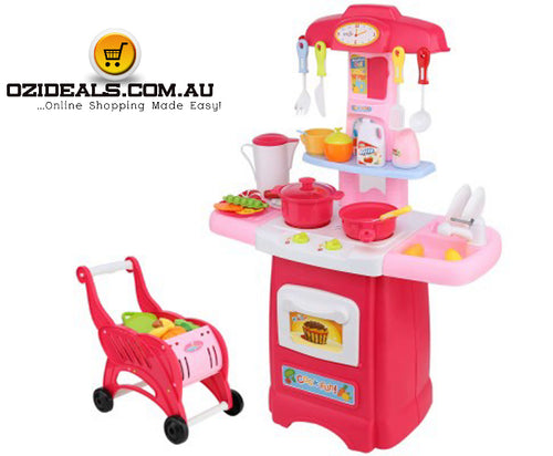 Kitchen and Trolley Play set