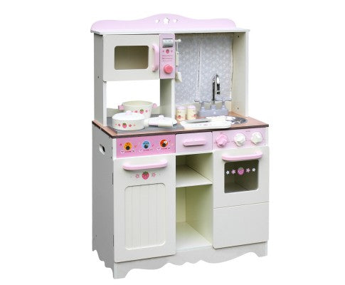Kids Kitchen Play Set - Off White