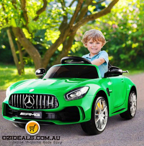 Kid's Ride on Mercedes-AMG GT R – Green Pink Black