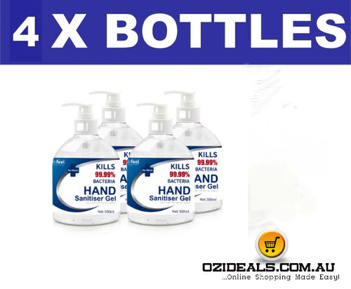 Hand Sanitiser 4 x 500ml bottles 72% Alcohol