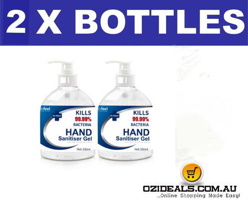 Hand Sanitiser 2 x 500ml bottles 72% Alcohol