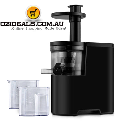 Cold Press Slow Juicer Black - Red - Silver
