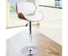 Load image into Gallery viewer, Set of 2 Wooden Gas Lift Bar Stools Black or White